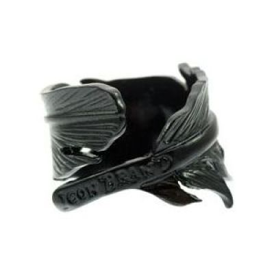 Mens Icon Brand Base metal Momento Ring Size Medium P192-R-BLK-MED