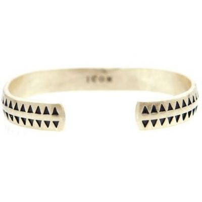 Icon Brand Herr Hound Tooth Bangle Guldpläterad P1207-BR-BRA