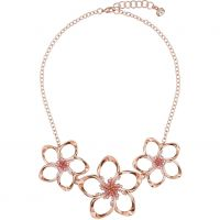 Ladies Ted Baker Rose Gold Plated Crystal Blossom Necklace TBJ1421-24-34