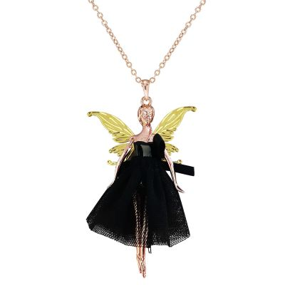Ladies Ted Baker Two-tone steel/gold plate Fairy Ballerina Necklace TBJ1444-25-05