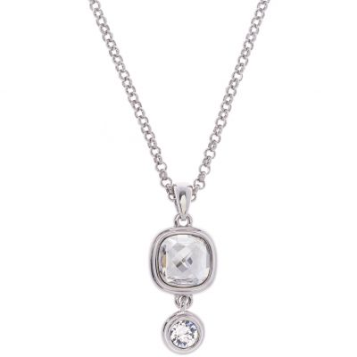 Ladies Karen Millen Silver Plated Milano Stone Double Necklace KMJ965-01-265