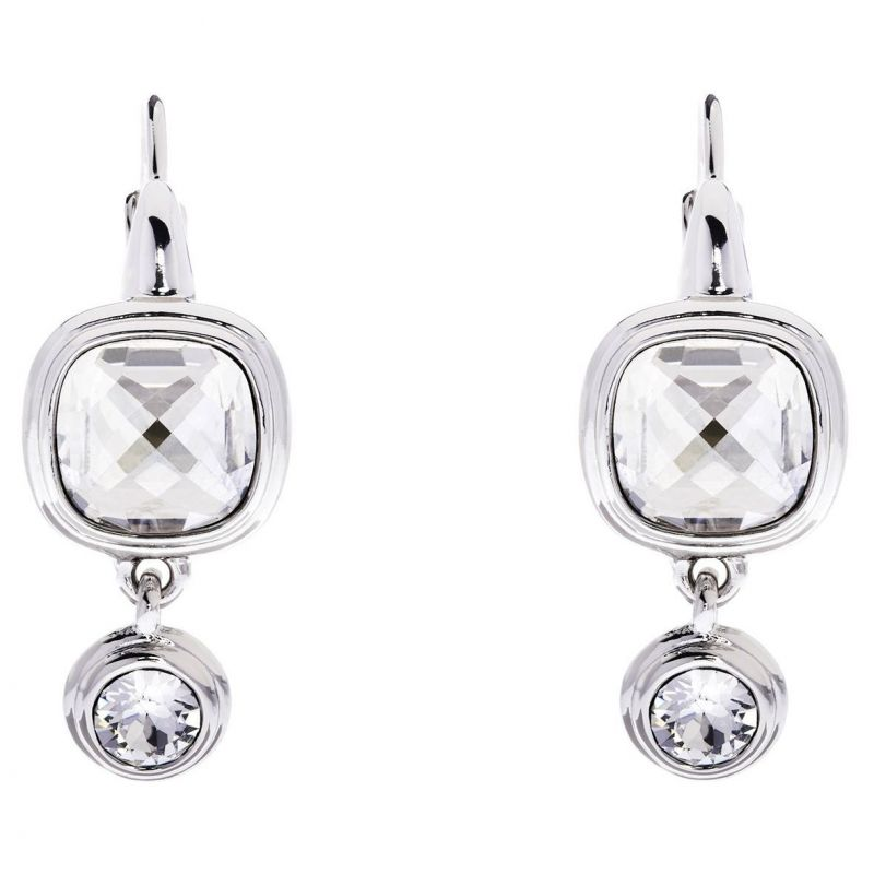Ladies Karen Millen Silver Plated Milano Stone Double Earrings KMJ963-01-265