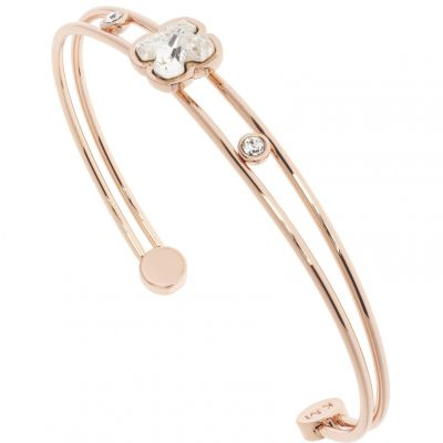Karen Millen Dam Art Glass Flower Bangle Roséguldspläterad KMJ922-24-02