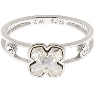 Biżuteria damska Karen Millen Jewellery Art Glass Flower Ring Size ML KMJ925-01-02ML