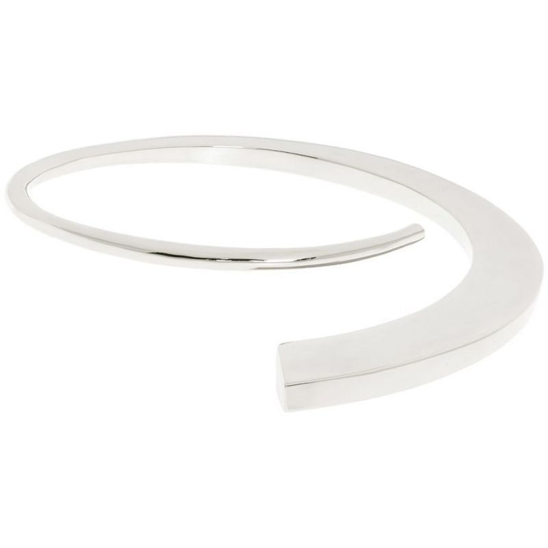 Ladies Karen Millen Silver Plated Axial Sculpture Bangle KMJ969-01-03