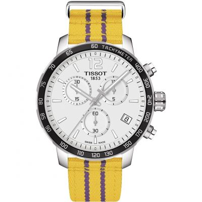 Mens Tissot Quickster NBA Los Angeles Lakers Special Edition Chronograph Watch T0954171703705