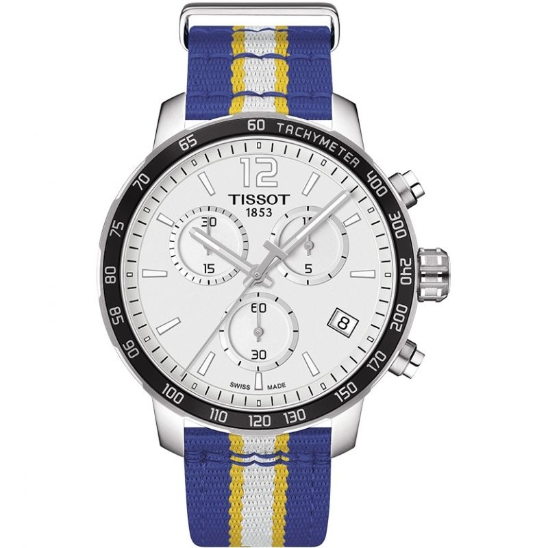 Mens Tissot Quickster NBA Golden State Warriors Special Edition Chronograph Watch