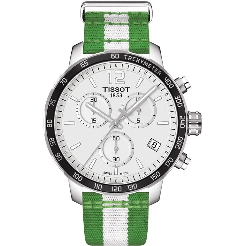 Mens Tissot Quickster NBA Boston Celtics Special Edition Chronograph Watch