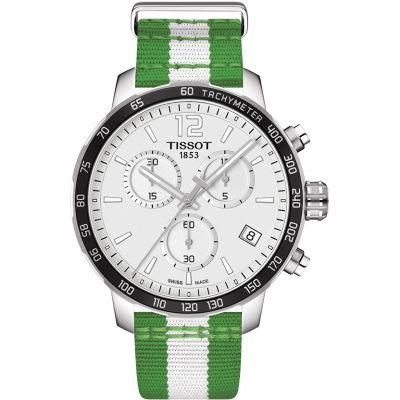 Montre Chronographe Homme Tissot Quickster NBA Boston Celtics Special Edition T0954171703717
