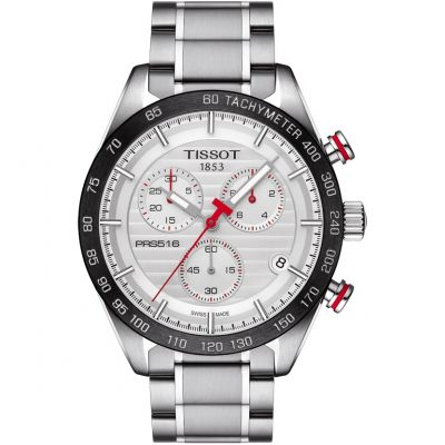 Tissot T-Sport PRS516 Herrenchronograph in Silber T1004171103100