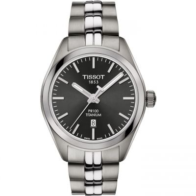 Ladies Tissot PR100 Titanium Watch T1012104406100