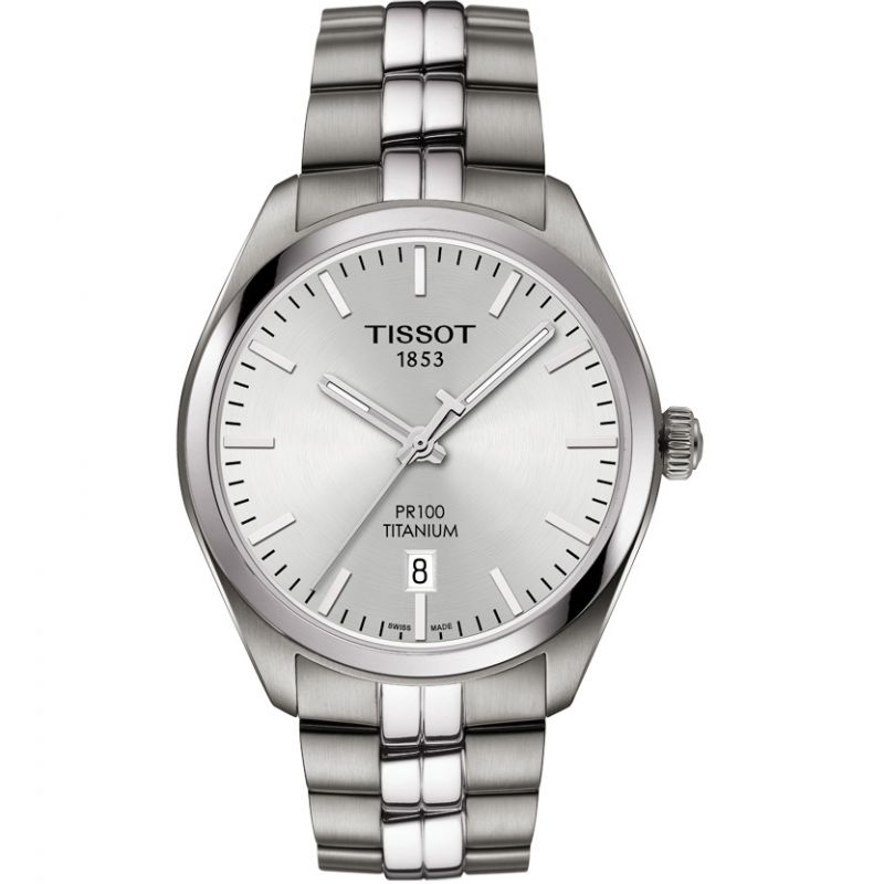 Mens Tissot PR100 Titanium Watch