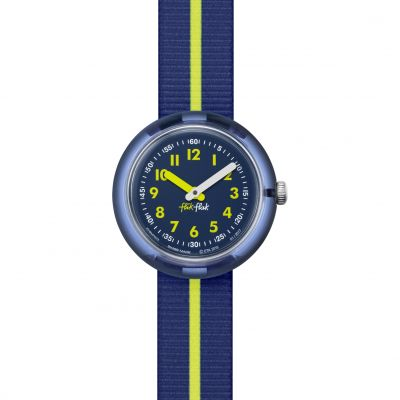 Childrens Flik Flak Yellow Band Watch FPNP023