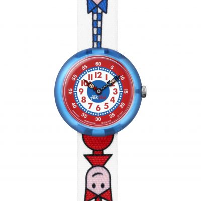 Childrens Flik Flak Ticking Right Watch FBNP079