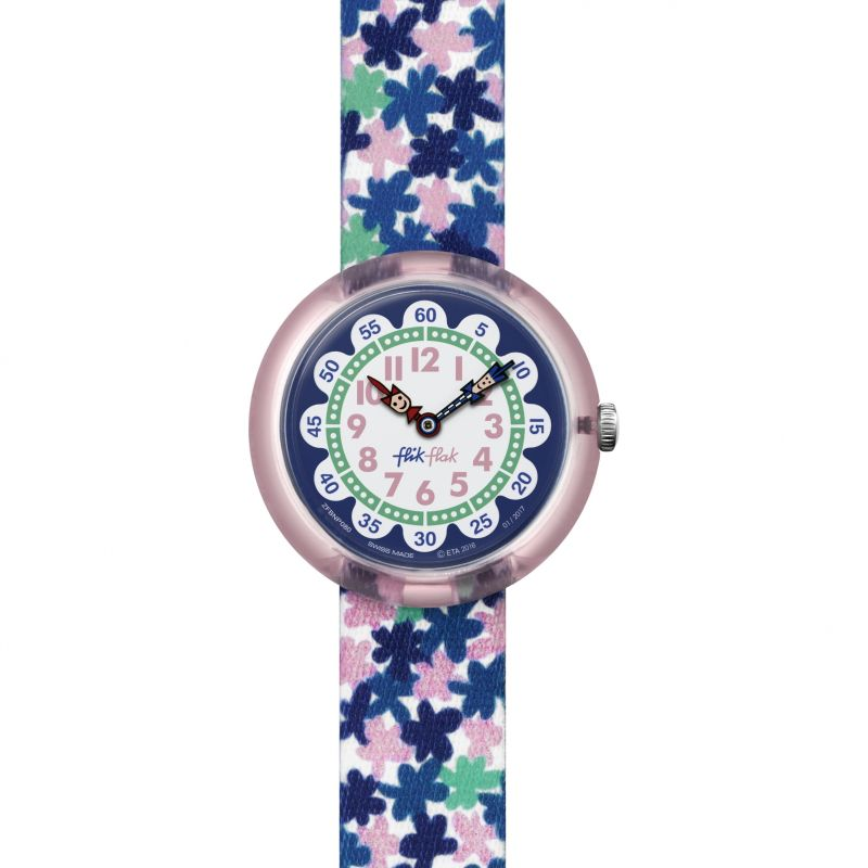 Childrens Flik Flak London Flower Watch FBNP080