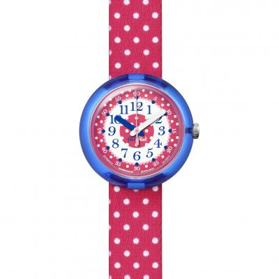 Flik Flak Pink Crumble Kinderuhr in Rot FPNP012