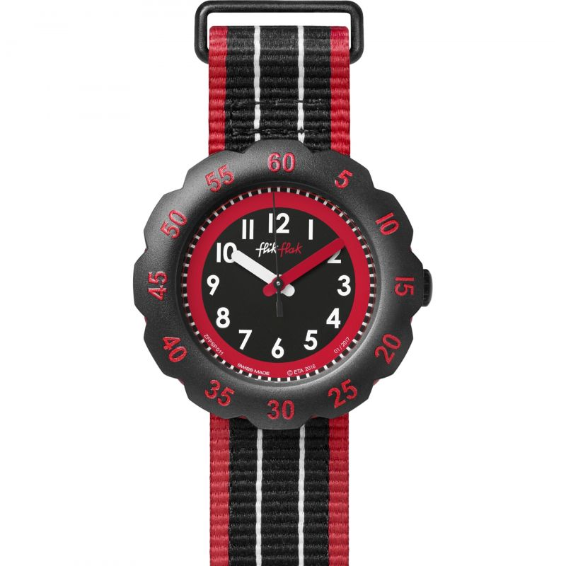 Childrens Flik Flak Black Style Watch FPSP011