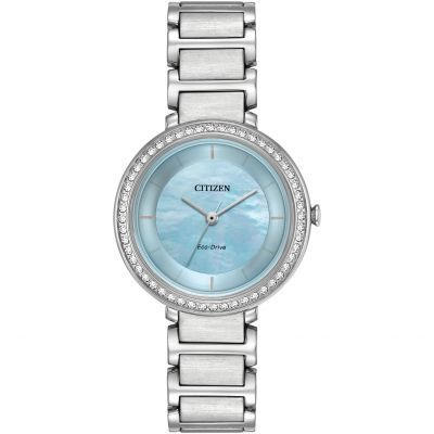 Citizen Silhouette Crystal Damenuhr in Silber EM0480-52N