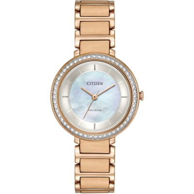 Citizen Silhouette Crystal Damenuhr in Rosa EM0483-54D