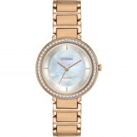 Ladies Citizen Silhouette Crystal Watch EM0483-54D