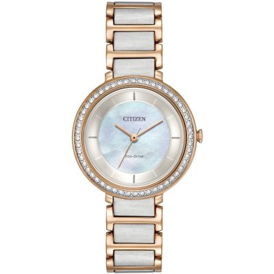 Citizen Silhouette Crystal Damenuhr in Zweifarbig EM0483-89D