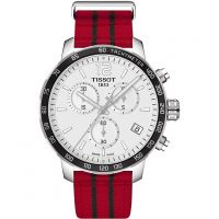 Mens Tissot Quickster NBA Chicago Bulls Special Edition Chronograph Watch T0954171703704