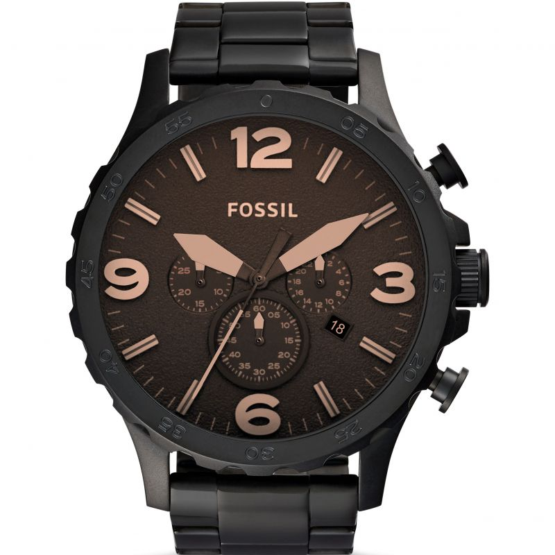 Mens Fossil Nate Chronograph Watch JR1356