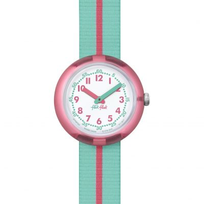 Childrens Flik Flak Pink Band Watch FPNP020