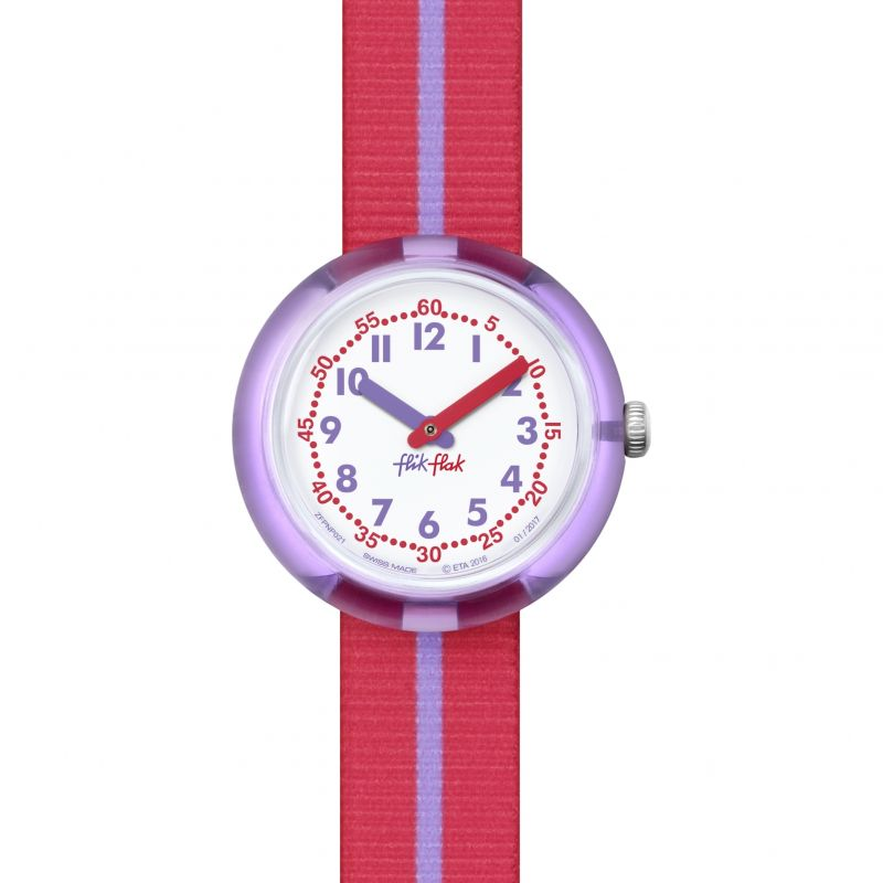Childrens Flik Flak Purple Band Watch FPNP021