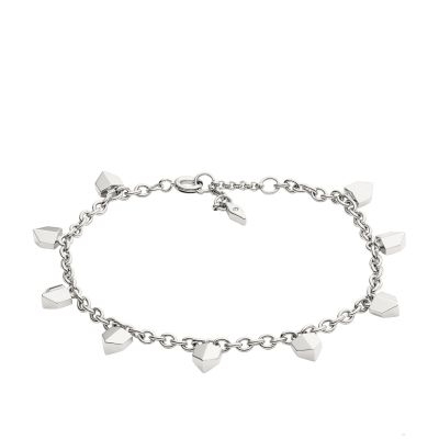 Ladies Fossil Silver Plated Bracelet JF02430040