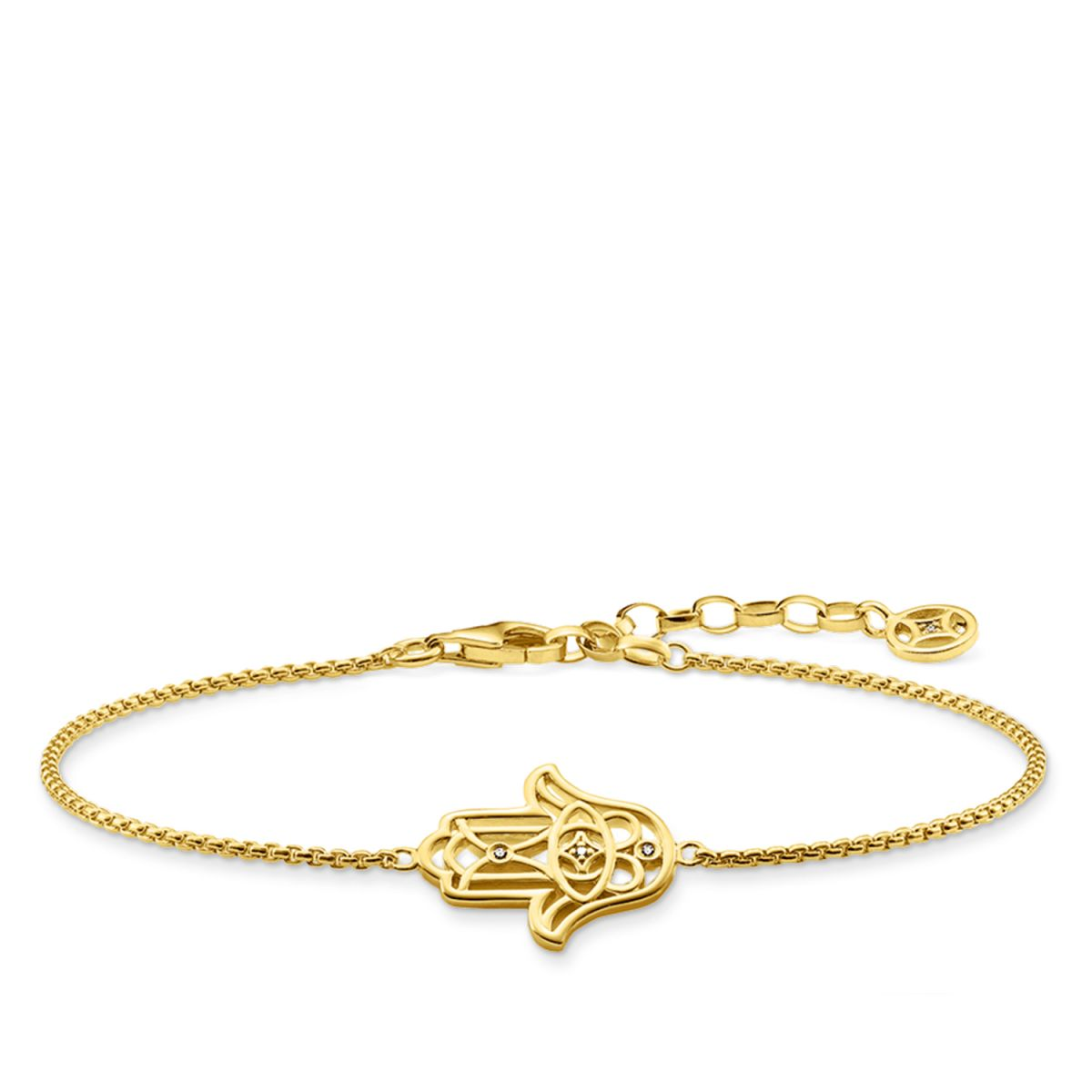 Buy Cheap Official Buy Cheap 2018 New Thomas Sabo bracelet yellow gold-coloured D_A0028-924-39-L19v Thomas Sabo Brand New Unisex Cheap Price Cheap Best Sale QL3XIsy
