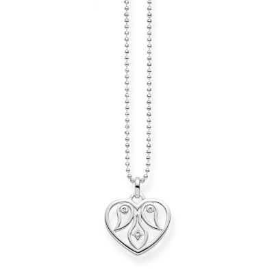 Damen Thomas Sabo Diamant Glam & Soul Diamond Heart Halskette Sterling-Silber KE0018-725-21-L45V