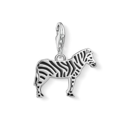 Ladies Thomas Sabo Sterling Silver Charm Club Zebra Charm 1416-007-11