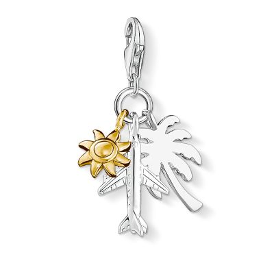 Thomas Sabo Dames Charm Club Travel Charm Sterling Zilver 1430-413-21