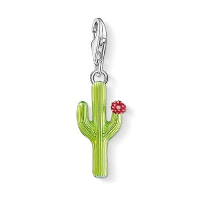 Ladies Thomas Sabo Sterling Silver Charm Club Cactus Charm 1437-007-33