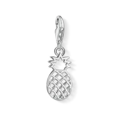 Ladies Thomas Sabo Sterling Silver Charm Club Pineapple Charm 1438-001-21