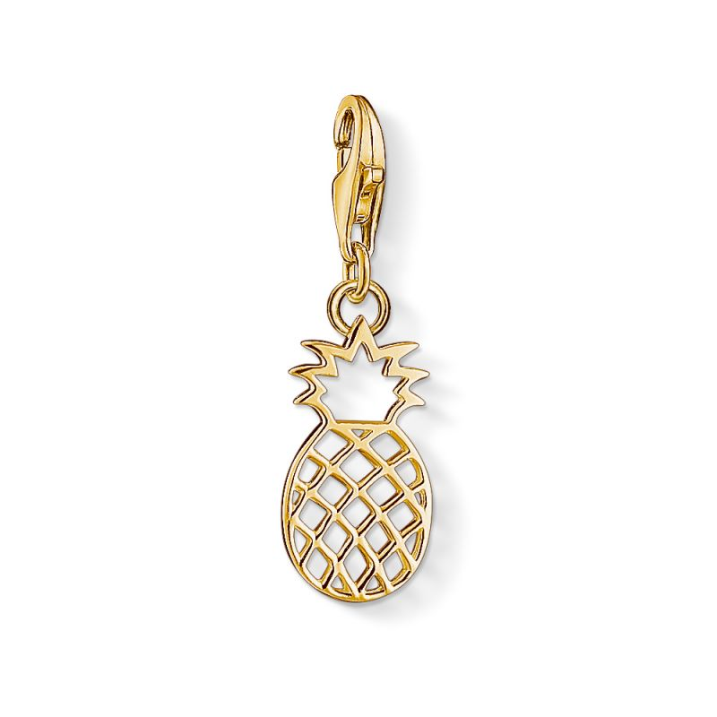 Ladies Thomas Sabo PVD Gold plated Charm Club Pineapple Charm 1439-413-39