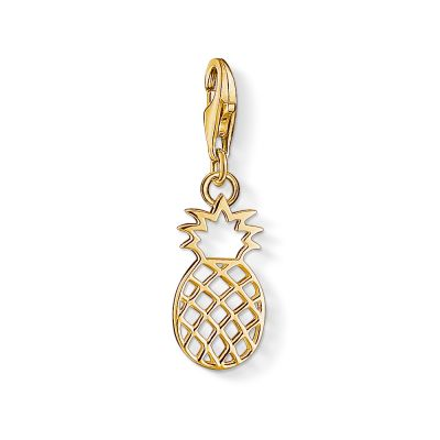 Thomas Sabo Dames Charm Club Pineapple Charm PVD verguld Goud 1439-413-39