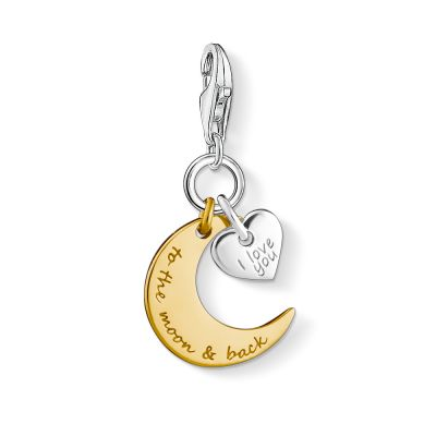 Thomas Sabo Dames Charm Club Moon & Star Charm Sterling Zilver 1443-413-39