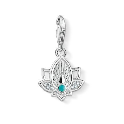 Thomas Sabo Dames Charm Club Lotus charm Sterling Zilver 1446-405-14