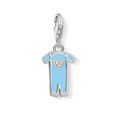 Ladies Thomas Sabo Sterling Silver Charm Club Blue Romper Suit Charm 1456-041-31