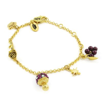 Juicy Couture Dam Magic Mushrooms Luxe Wishes Charm Bracelet Guldpläterad WJW86756-712