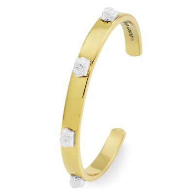 Ladies Juicy Couture Two-tone steel/gold plate Opened Crown Cuff Bracelet WJW86809-712