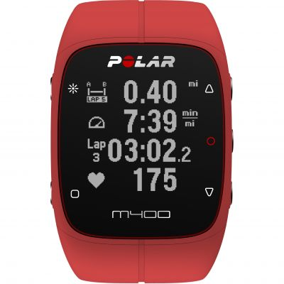 Polar Red M400 Bluetooth GPS Activity Tracker Heart Rate Bundle Unisexchronograph in Rot 90061177