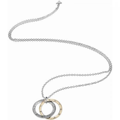 Ladies Guess Two-tone steel/gold plate E-Motions Necklace UBN83101
