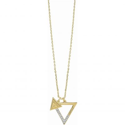 Ladies Guess Gold Plated Iconic 3Angles Necklace UBN83091