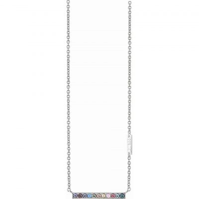 Ladies Guess Rhodium Plated Miami Necklace UBN83050