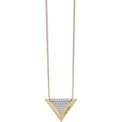 Ladies Guess Gold Plated Revers Necklace UBN83068