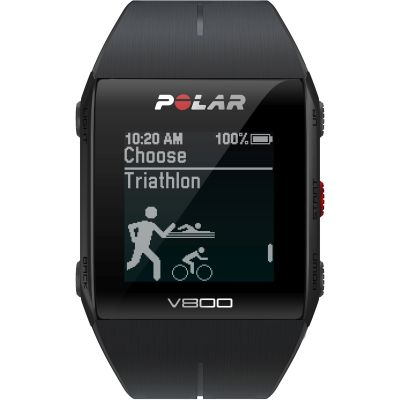 Polar Black V800 Bluetooth Heart Rate Monitor GPS Smart Unisexchronograph in Schwarz 90060771