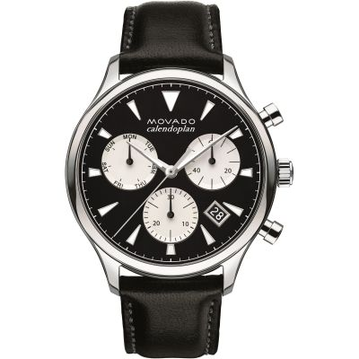 Mens Movado Heritage Series Calendoplan Chronograph Watch 3650005
